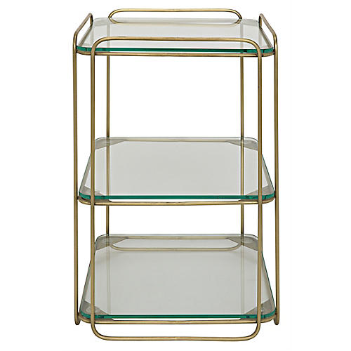 Eva Side Table, Brass