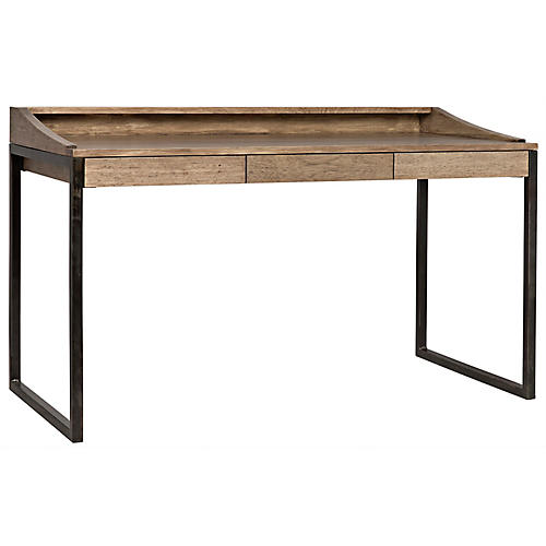Ling Writing Desk, Washed Walnut
