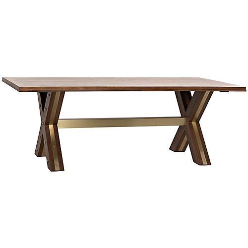 Millennium Dining Table, Dark Walnut
