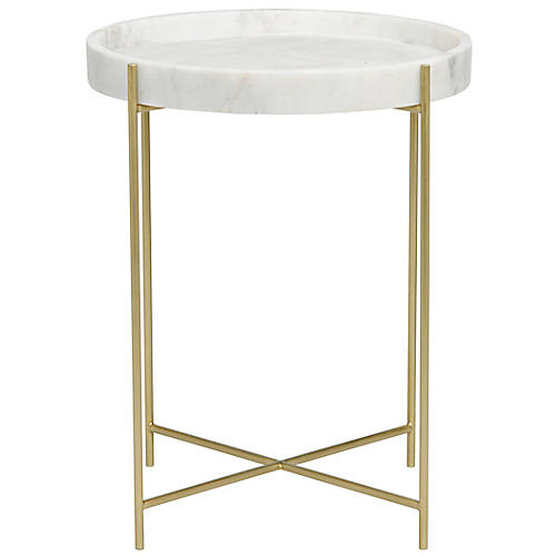 Chuy Side Table, Brass