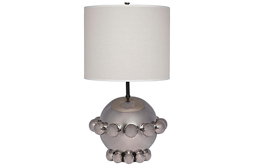 Scepter Table Lamp, Silver