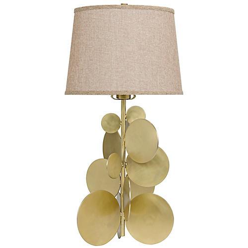 Vadim Table Lamp, Antiqued Brass