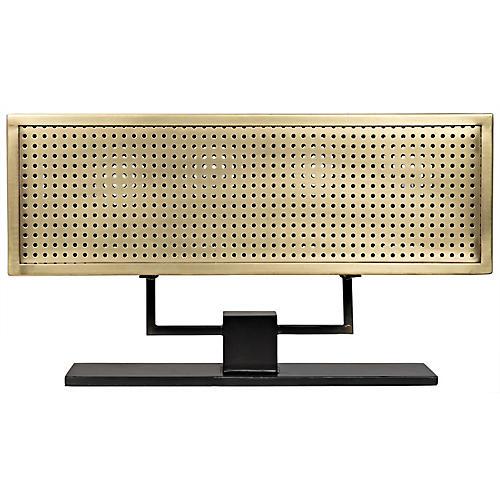Apollo Table Lamp, Antiqued Brass/Black