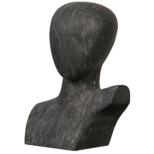 "16"" That Man Marble Accent, Black"