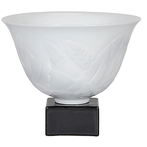 """10"""" Cyprus Vase, White/Black"""
