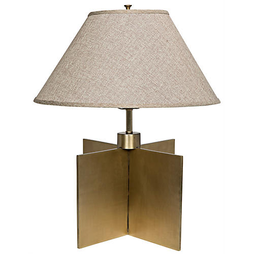 Architectural Table Lamp, Antiqued Brass