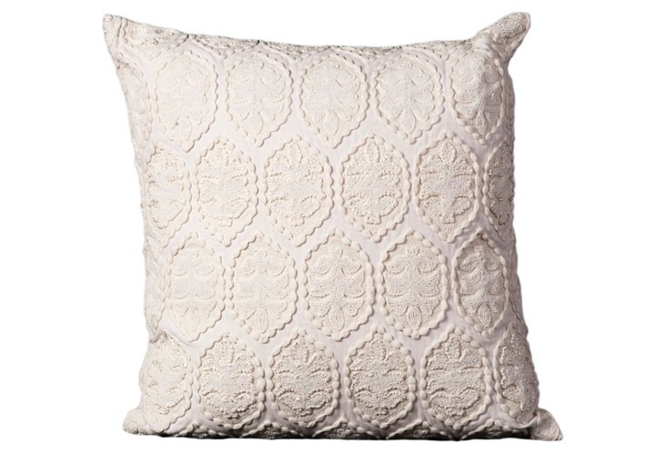 Stamped 20x20 Pillow, Ivory