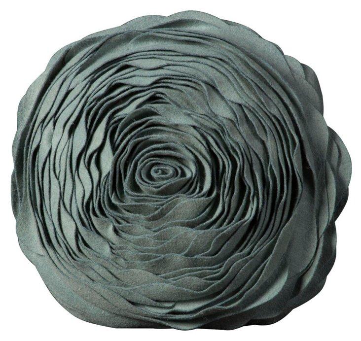 """Blossom 16"""" Pillow, Green"""