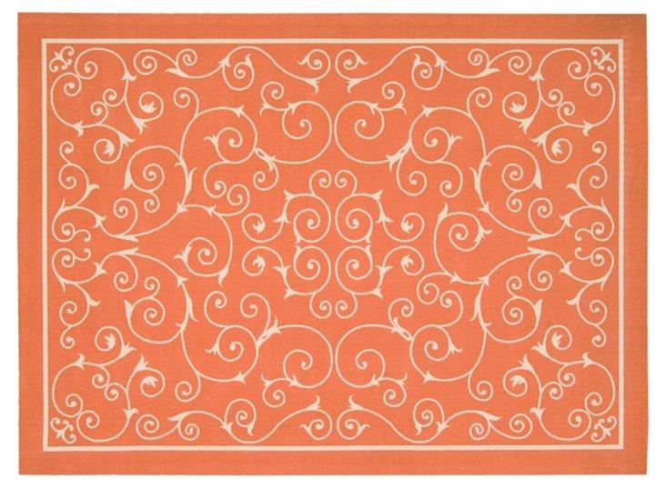 Dixwell Outdoor Rug, Orange