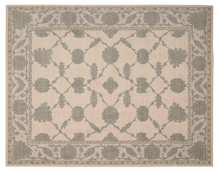 "5'3""x7'6"" Meadow Rug, Parchment/Gray"