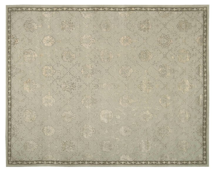 Adams Rug, Pale Sage/Cream