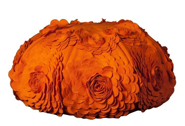 Flower Pouf, Orange