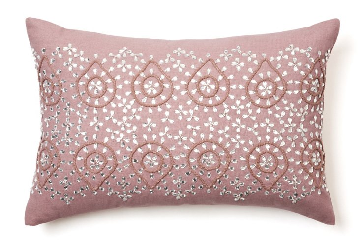 Motif 12x18 Cotton-Blended Pillow, Blush