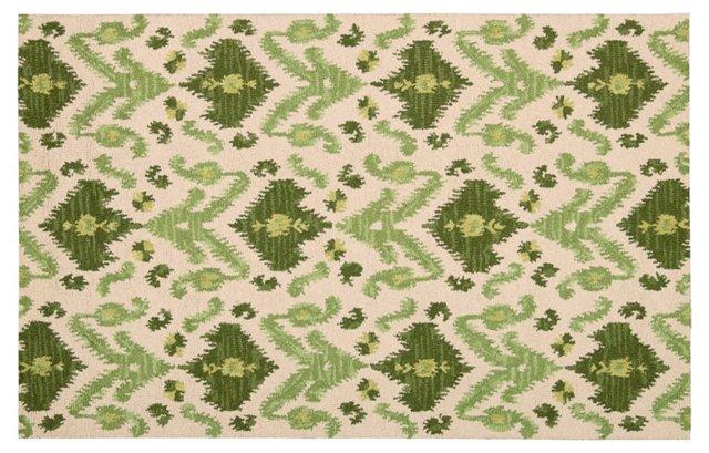 Rutledge Rug, Ivory/Green