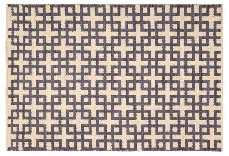 Kelly Flat-Weave Rug, Gray