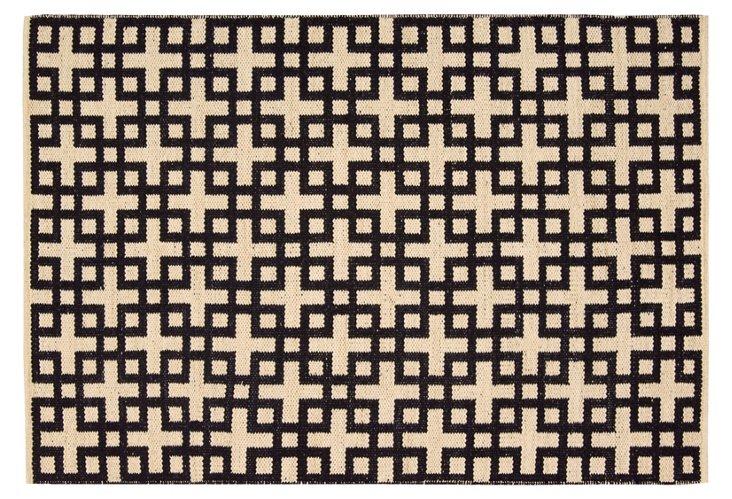 Kelly Flat-Weave Rug, Navy