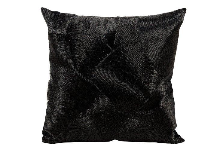 Sequin 20x20 Pillow, Black