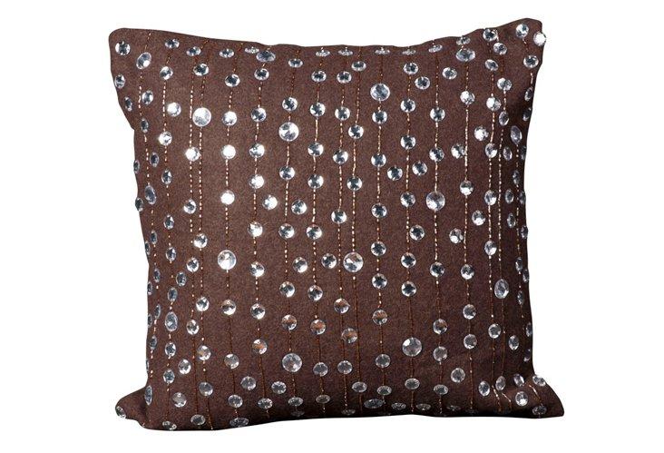 Raindrop 20x20 Pillow, Brown