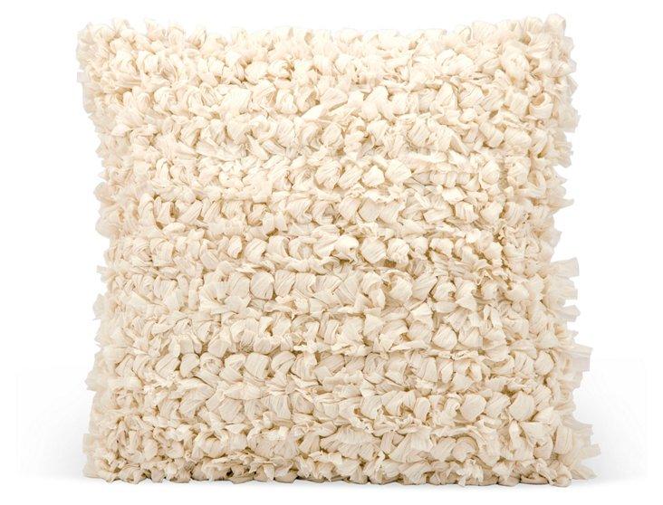 Pom-Pom 20x20 Pillow, Beige
