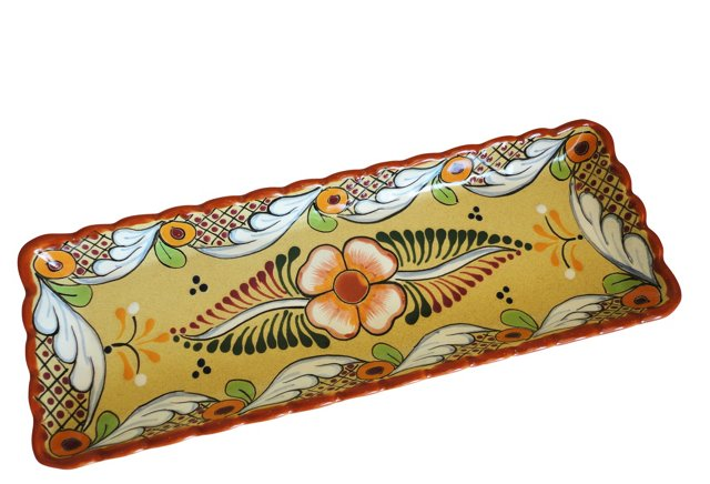 Tray w/ Scalloped Border, Sand
