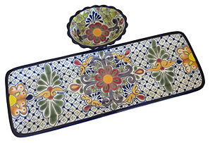 Rectangular Tray w/ Bowl, Multi
