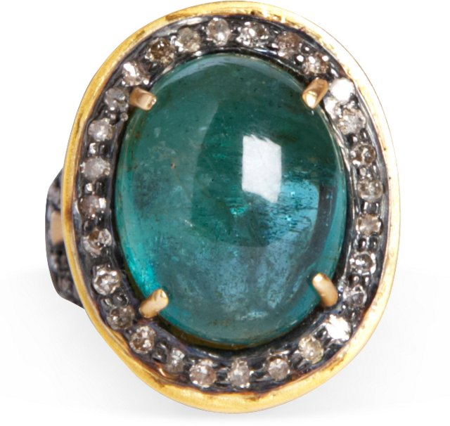 14K Yellow Gold & Emerald Ring