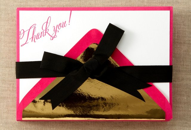 S/24 Thank-You Stationery, Hot Pink
