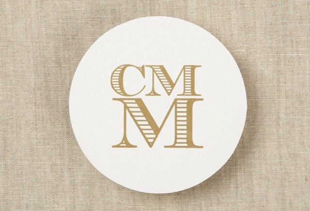 100 Custom Letterpress Coasters, Stacked