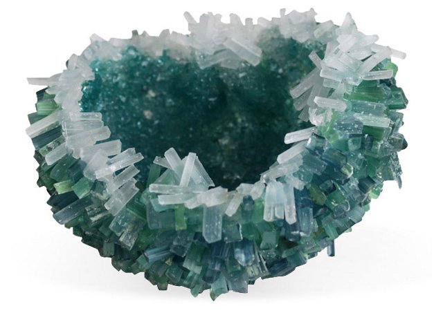 Sea Urchin Large Feuille Bowl, Jade
