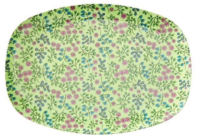 S/2 Melamine Plates, Flower Print