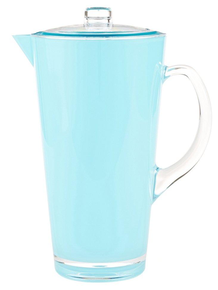 Retro-Style Jug, Blue Acrylic
