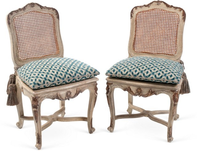 Vintage Italian Side Chairs, Pair