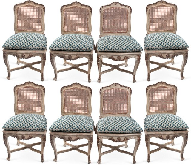 Vintage Italian Side Chairs, Set of 8