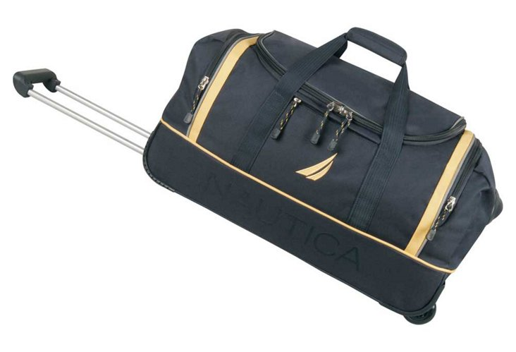 "Starboard 24"" Wheeled Duffel, Navy/Yellow"