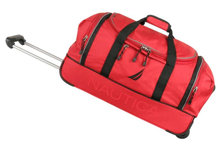 "Starboard 24"" Wheeled Duffel, Red/Black"
