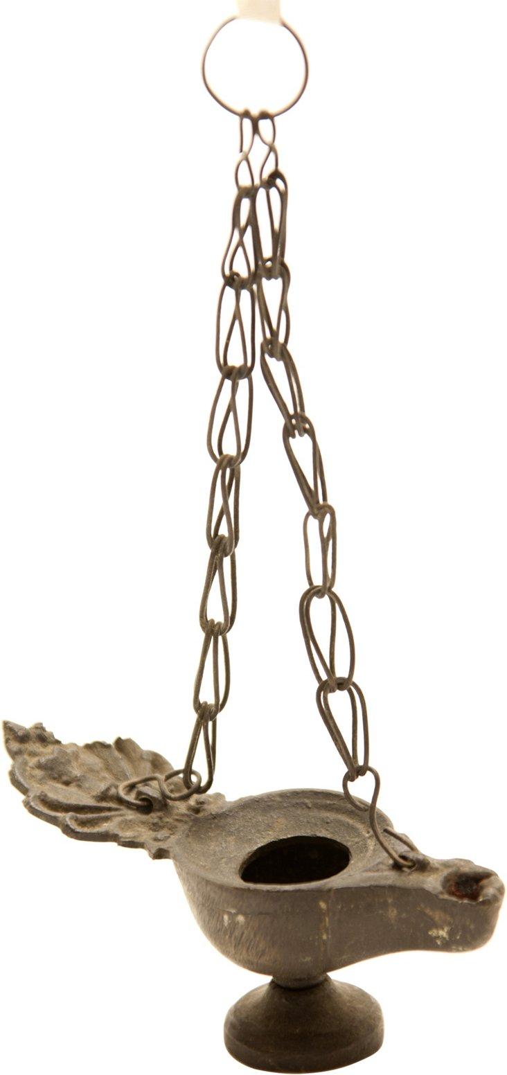 Grand Tour Small Bronze Oil Lamp