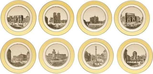 Antique Creil Plates, Set of 8