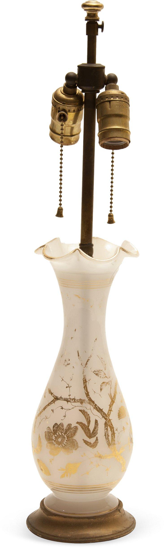 19th-C. Opaline Glass Lamp II