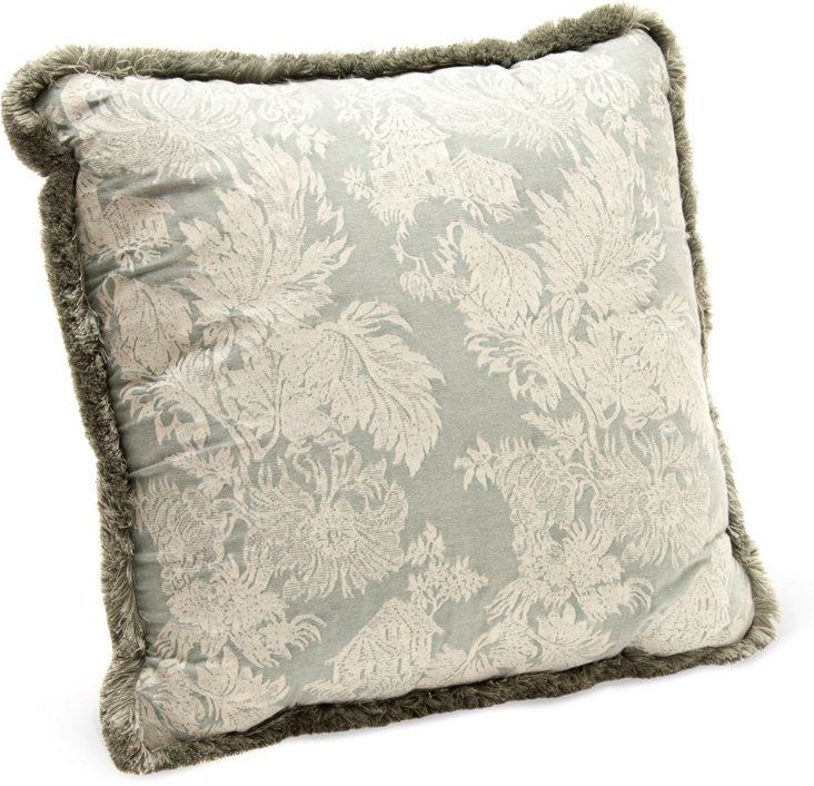 Chinoiserie Patterned Pillow