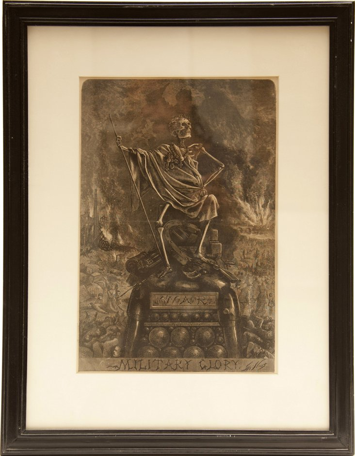Antique Woodcut by Thomas Nast