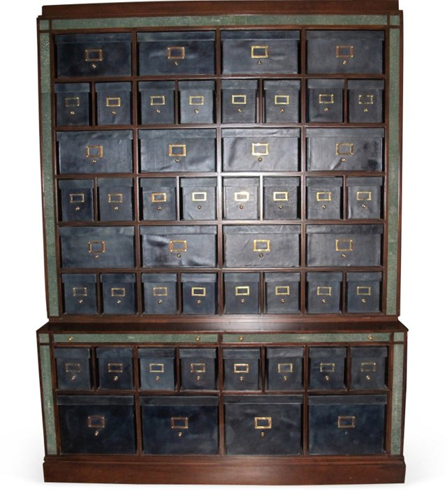 Wood & Shagreen Cabinet