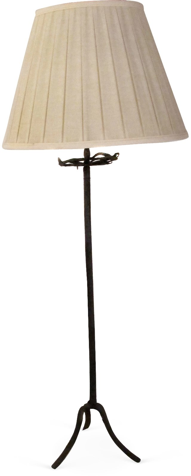 Rustic Iron Picket Lamp I