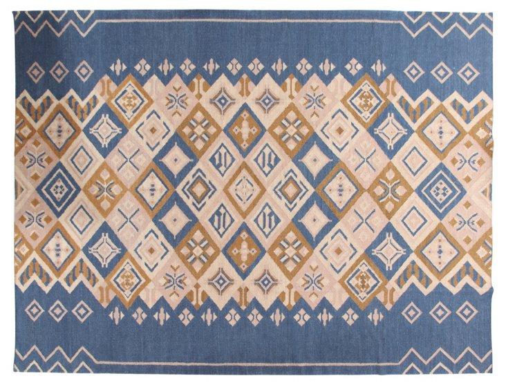 Louisa Flat-Weave Rug, Blue