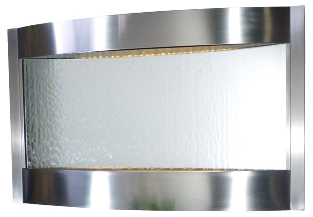 32x52 Indoor Water Fountain, Silver