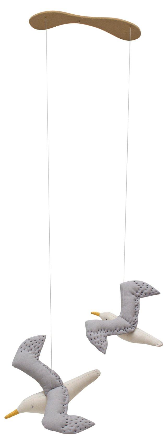 Kamomé 2 Seagulls Mobile, Gray/Blue