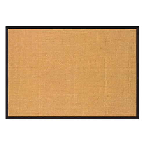 Howell Sisal Rug, Black/Tan