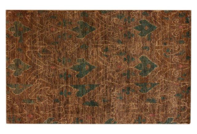 5'x8' Ansonia Hemp Rug, Brown