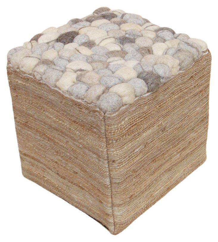 Pebbles Pouf, Slate