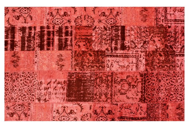 Cannes Over-Dyed Rug, Strawberry