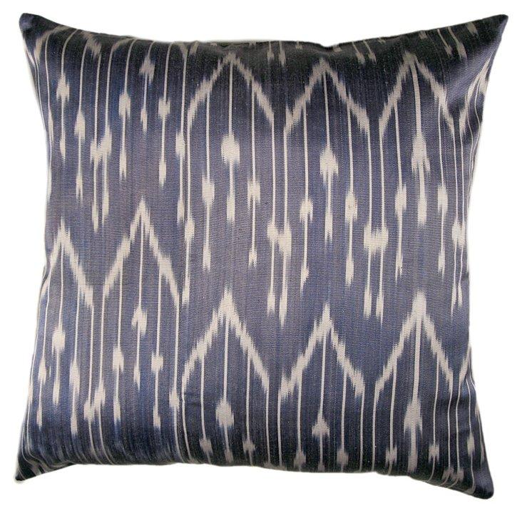 Willow 18x18 Silk-Blend Pillow, Blue
